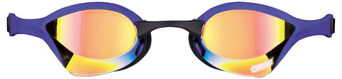 Arena Adult Racing Goggles Cobra Ultra Mirror Yellow Revo/Blue - Clickswim.com