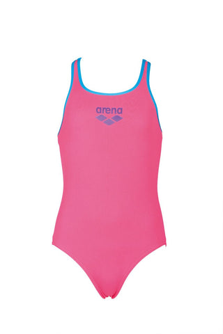 Arena True Sport Girls Biglogo Swim Pro Back One Piece Aphrodite/Turquoise - Clickswim.com