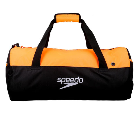 Speedo Adult Unisex Bags Duffel Bag Black/Orange 30L - Clickswim.com