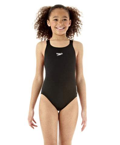 Speedo Junior Essential Endurance+ Medalist Black - Clickswim.com