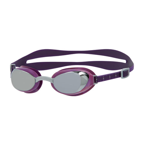 Speedo Aquapure Mirror Goggles V2 Womens Swimsuit Bramble/Silver/Chrome - Clickswim.com