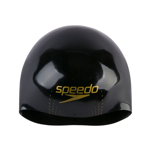 Speedo Fastskin Cap Adult Black/Gold Mettallic/ Bondi Blue