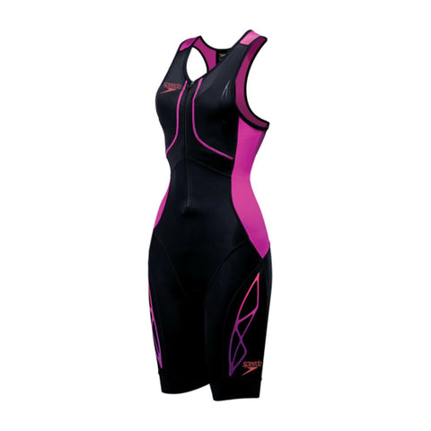Speedo Adult Womens Triathlon Fastskin Xenon Female Trisuit Black/Bright Fuchsia - Clickswim.com