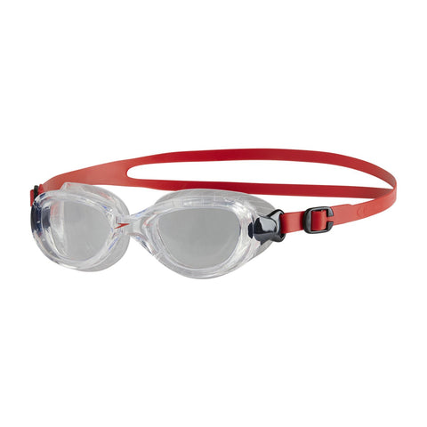 Speedo Junior Unisex Goggles Futura Classic Junior Red/Clear - Clickswim.com