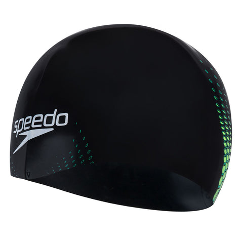 Speedo Fastskin Cap Adult Black/ Jade/ Fluro Yellow