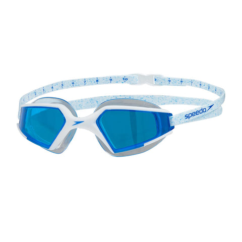 Speedo Aquapulse Max Goggles Adult White/Aqua Splash/Blue - Clickswim.com