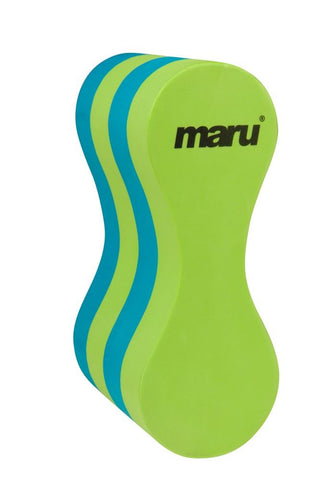 Maru Junior Pull Buoy Training Aid Lime/Turquoise - Clickswim.com