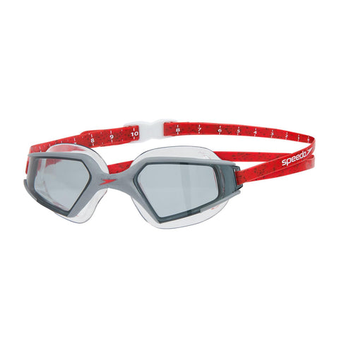Speedo Aquapulse Max Goggles Adult Black/Lava Red/Smoke - Clickswim.com