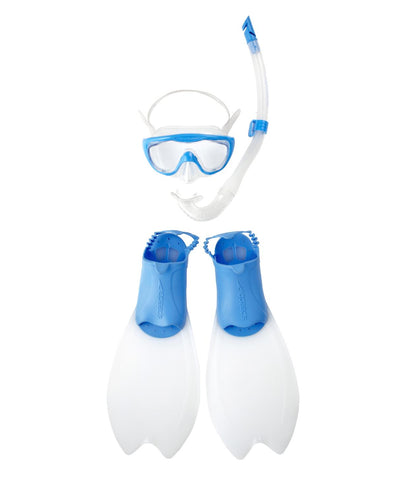 Speedo Junior Unisex Equipment Glide Junior Scuba Set Blue - Clickswim.com