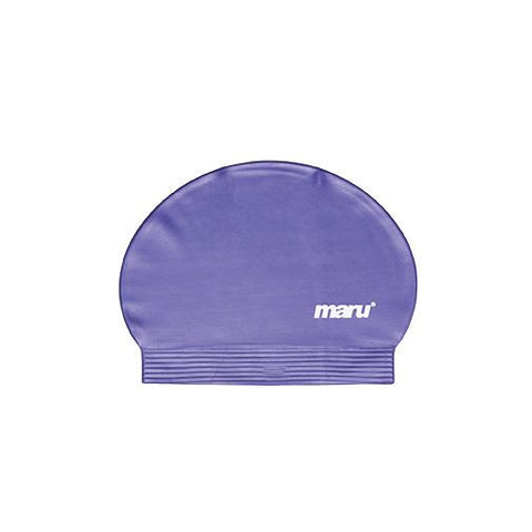 Maru Fast Flow Adult Latex Swim Hat Purple - clickswim.com