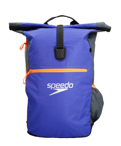 Speedo Adult Team Rucksack III Grey/Blue 30L - Clickswim.com