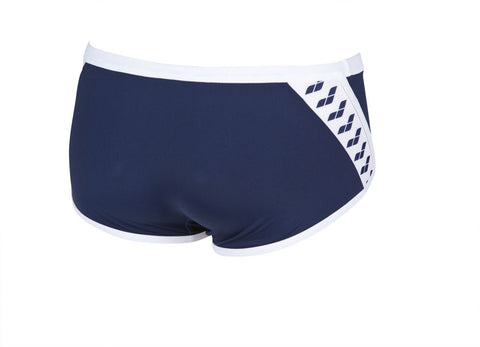 Arena True Sport Mens Team Stripe Low Waist Short  Navy/White - Clickswim.com