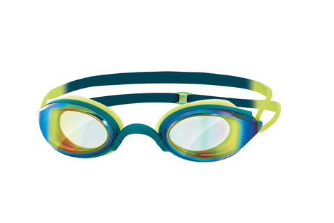 Fusion Air Mirror Adult Goggles deep green/lime/mirror - Clickswim.com