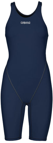 Arena Womens Powerskin ST 2.0 Full Body Short Leg Open Back Navy - Clickswim.com