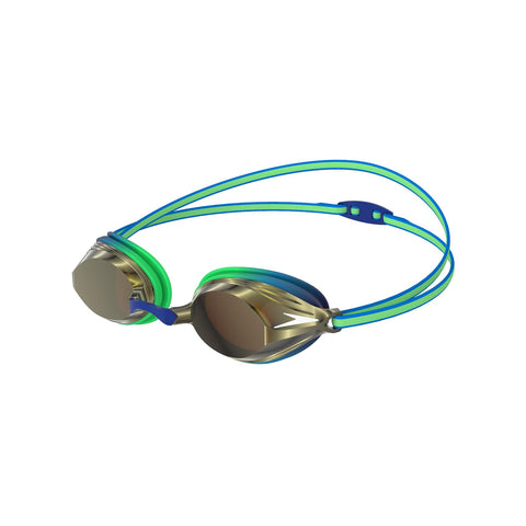 Speedo Vengeance Mirror Goggles Junior Green/Gold - Clickswim.com