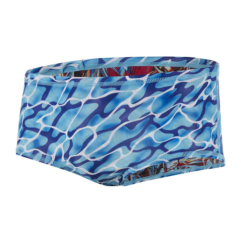 Speedo Teen Boys Waterflow / Fireglam Flip Reverse14cm Allover Brief Pink / Blue - Clickswim.com