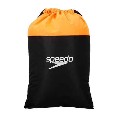 Speedo Adult Unisex Bags Pool Bag Black/Orange - Clickswim.com