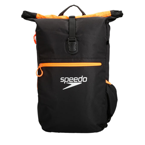 Speedo Adult Unisex Bags Team Rucksack III Black/Orange - Clickswim.com