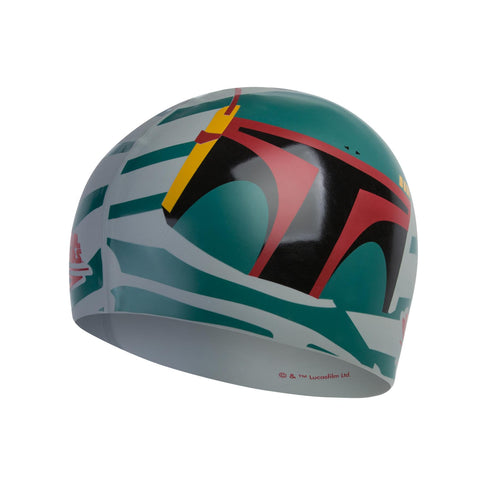 Speedo Star Wars Boba Fett Slogan Cap Adult Grey/Green - Clickswim.com