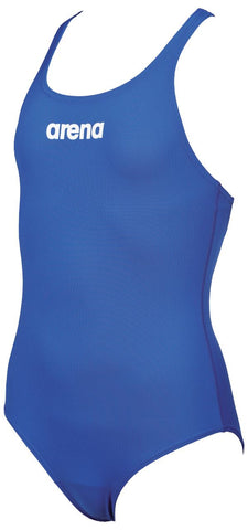Arena True Sport Girls Solid Swim Pro Royal/White - Clickswim.com