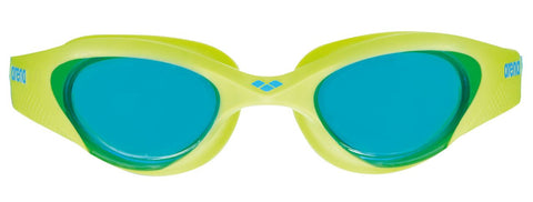 Arena Junior Training Goggles The One Light blue/Lime/Blue - Clickswim.com
