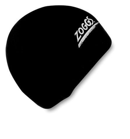 Zoggs Adult Latex Cap Black - Clickswim.com