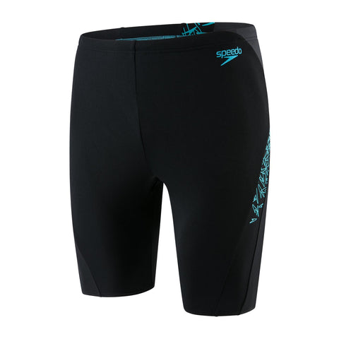Speedo Boom Splice Jammer Boys Black/Windsor Blue - Clickswim.com