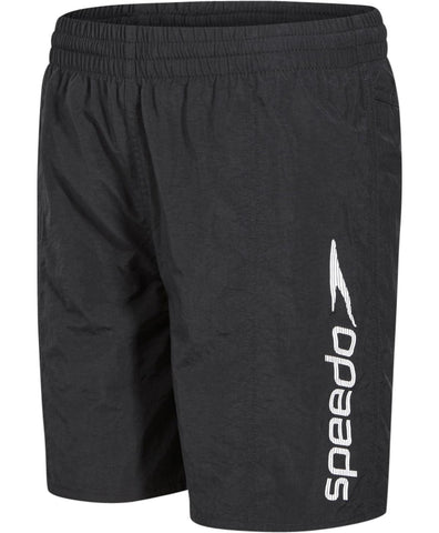 "Speedo Junior Boys Watershorts Challenge 15"" Watershort Black / White - Clickswim.com"