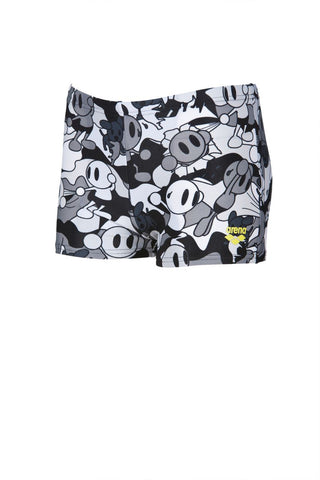 Arena Original Touch Boys Camo Kun Short  Black - Clickswim.com