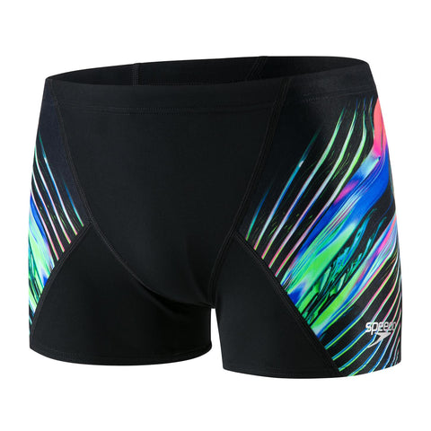 Speedo Aqua Short Mens Echo Focus/Black/Lava Red - Clickswim.com