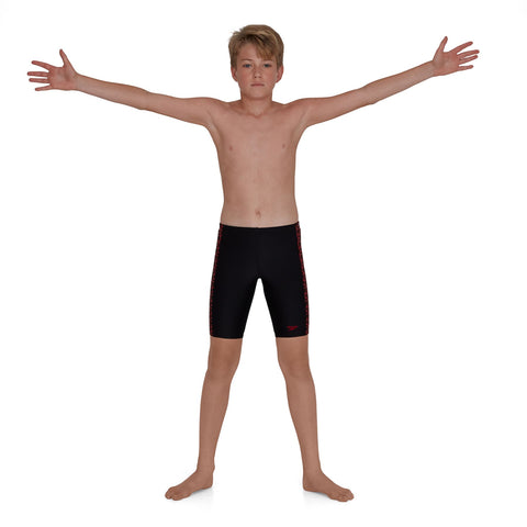 Speedo Boomstar Splice Jammer Boys Black/Fed Red