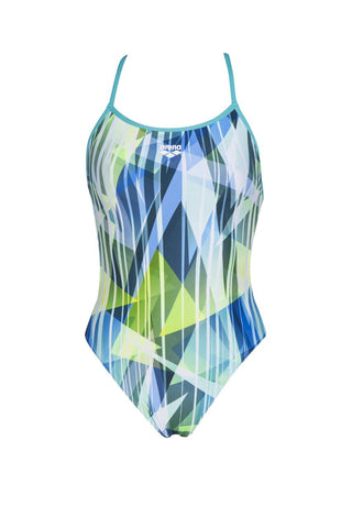 Arena Womens Shading Prism Booster Back One Piece Swimsuit Mint Multi
