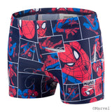 Speedo Aqua Short Infant Boys Spiderman Navy/Lava Red