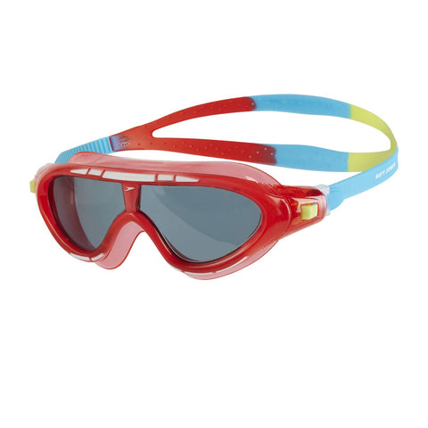 Speedo Biofuse Rift Junior Mask Red/Smoke - Clickswim.com