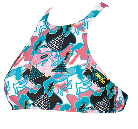 Arena Original Touch Womens Swimsuit Crop Think Black/Multi