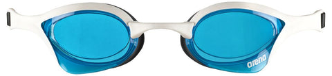 Arena Adult Racing Goggles Cobra Ultra Blue/White/Black - Clickswim.com