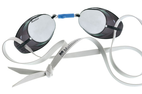 Malmsten Swedish Mirrored Adult Goggles Smoke - Clickswim.com