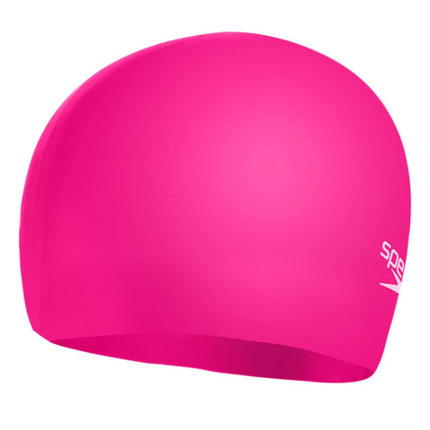 Speedo Moulded Silicone Cap Pink/Pink Junior