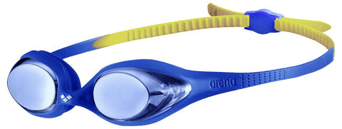 Arena Junior Training Goggles Spider Mirror Blue/Blue/Yellow - Clickswim.com