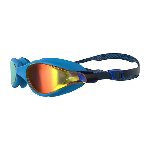 Speedo Vue Mirror Goggles Adult Blue/Gold - Clickswim.com