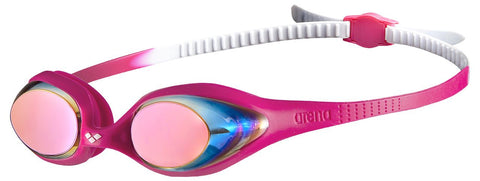 Arena Junior Training Goggles Spider Mirror White/Pink/Fuchsia - Clickswim.com