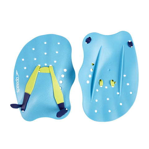 Speedo Adult Tech Hand Paddle Yellow/ Blue - Clickswim.com