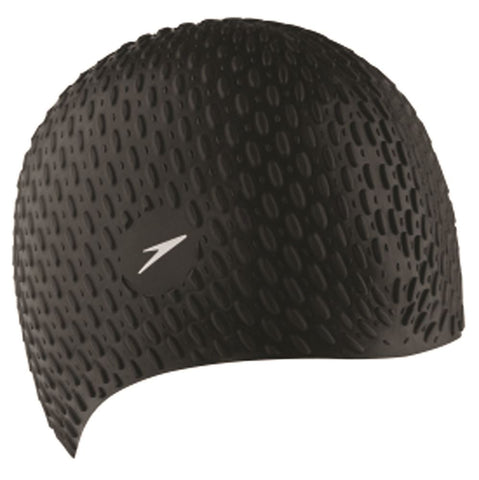 Speedo Womens Bubble Cap Black - Clickswim.com