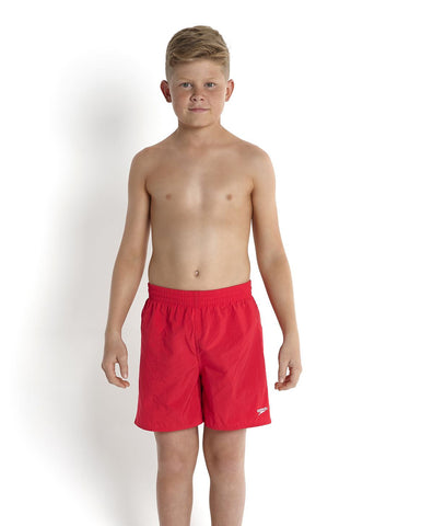 Speedo Boys Swimming Junior Swim Trunks Board Shorts  Fed Red - Clickswim.com