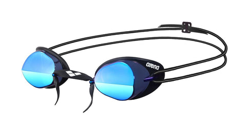 Arena Adult Racing Goggles Swedix Mirror Smoke/Blue/Black - Clickswim.com