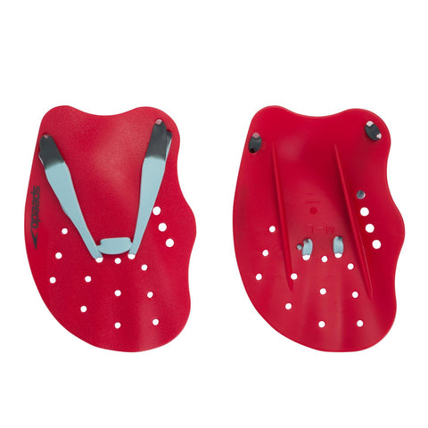 Speedo Tech Hand Paddle Adult Lava Red - Clickswim.com