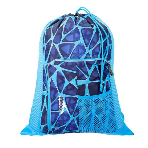 Speedo Mesh Bag Blue Design 35L - Clickswim.com