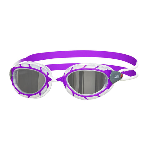 Predator Mirror Junior Junior Goggles Purple/White/Mirror - Clickswim.com