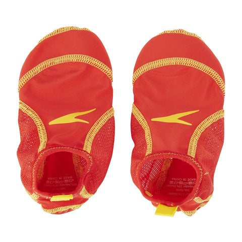 Speedo Junior Unisex Pool Sock Red/Yellow - Clickswim.com