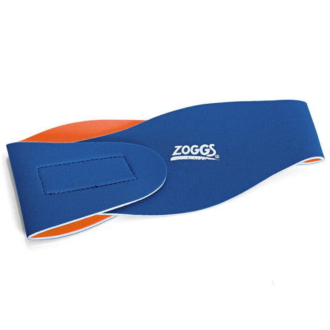 Zoggs Reversible Junior Ear Band Blue/Orange - Clickswim.com
